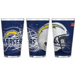 Los Angeles Chargers 16-Ounce Pint Glass